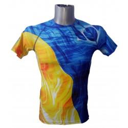 Abstract Mahi Mahi stretch coolmax t-shirt