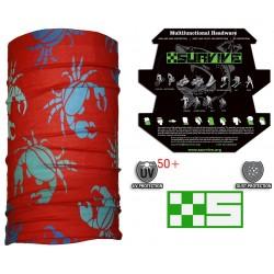 Red crab multi functional headwear seamless bandanas cap hoorag snowboard skis bike fishing motorsport